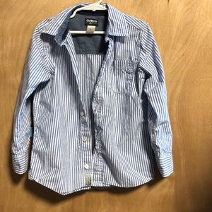 Oshkosh blue and white long sleeved shirt